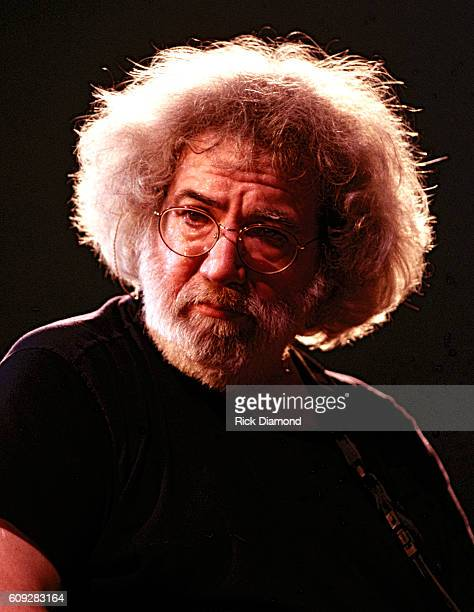 Jerry Garcia of The Grateful Dead performs at The Omni Coliseum in Atlanta Georgia on April 3 1994