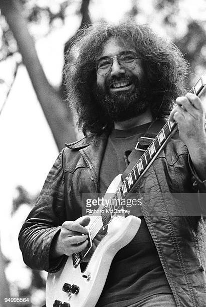 Jerry Garcia of The Grateful Dead performs live at Golden Gate Park in 1975 in San Francisco California