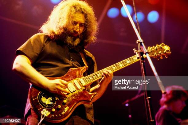 Jerry Garcia of The Grateful Dead performs on stage Wembley Empire Pool London 7th April 1972