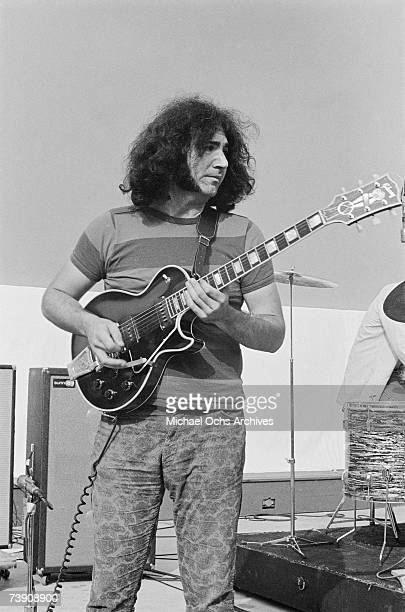 Jerry Garcia of The Grateful Dead rehearses at the Hollywood Bowl on September 15 1967 in Los Angeles California