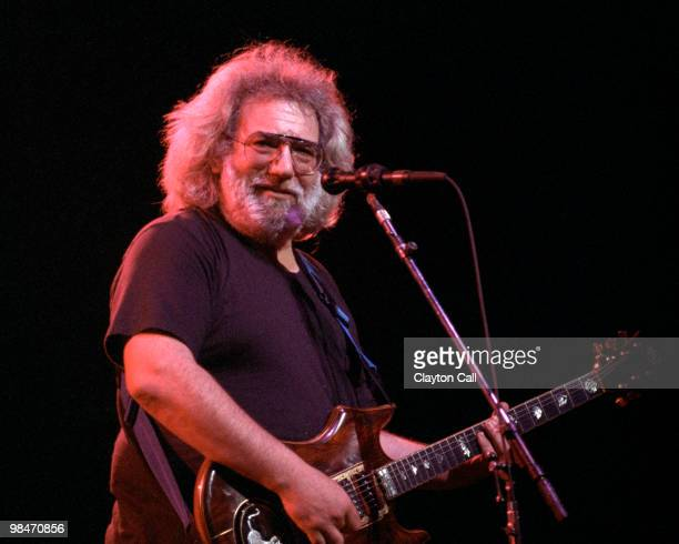 Jerry Garcia performing at the Warfield Theater in San Francisco on January 31 1991