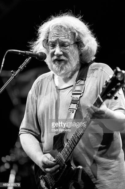 Jerry Garcia performing with the Grateful Dead at Giants Stadium in East Rutherford New Jersey on June 19 1995