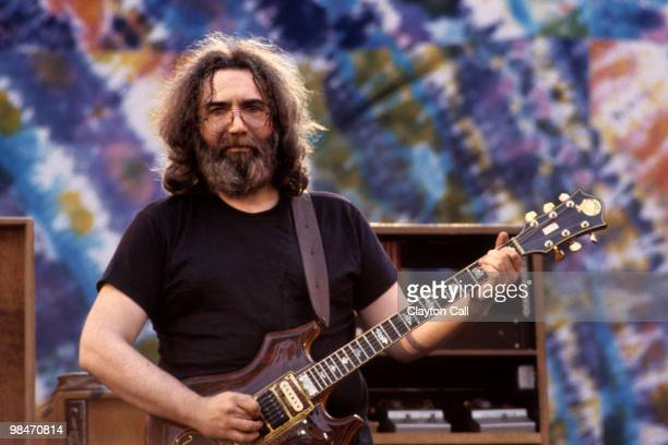 Jerry Garcia performing with the Grateful Dead at the Greek Theater in Berkeley on May 22 1982
