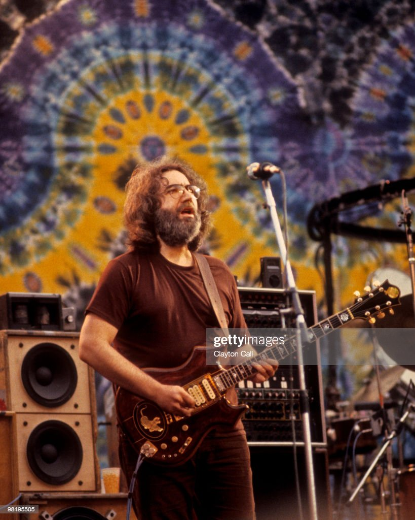 Jerry Garcia performing with the Grateful Dead at the Greek Theater in Berkeley on September 13, 1981.