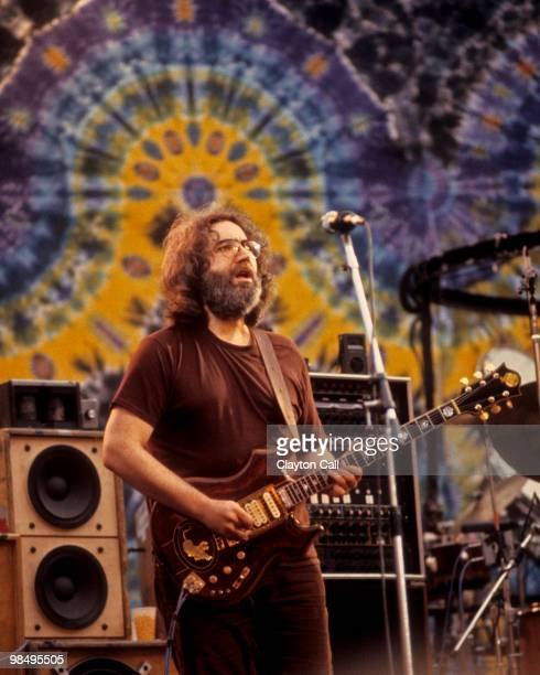 Jerry Garcia performing with the Grateful Dead at the Greek Theater in Berkeley on September 13 1981