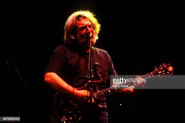 Jerry Garcia performing with 'The Grateful Dead' at the Oakland Coliseum in Oakland California on January 1 1985