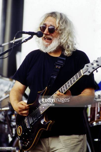 Jerry Garcia performing with 'the Grateful Dead' at the Sam Boyd Stadium in Las Vegas Nevada on May 21 1995