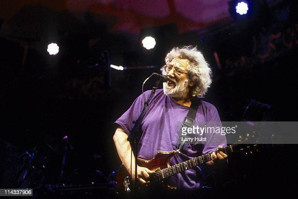 Jerry Garcia performing with 'the Grateful Dead' at the Sam Boyd Stadium in Las Vegas Nevada on June 2 1994