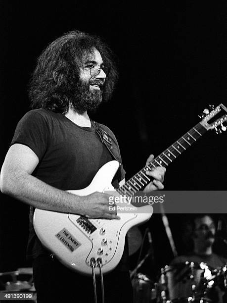 Jerry Garcia performs with The Grateful Dead at Robertson Gym on February 27 1977 at UC Santa Barbara