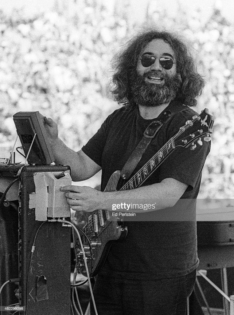 Jerry Garcia performs with The Grateful Dead at Santa Barbara Stadium on June 4, 1978 at U.C Santa Barbara.