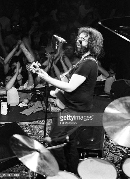 Jerry Garcia performs with The Grateful Dead at Winterland on June 8 1977 in San Francisco California