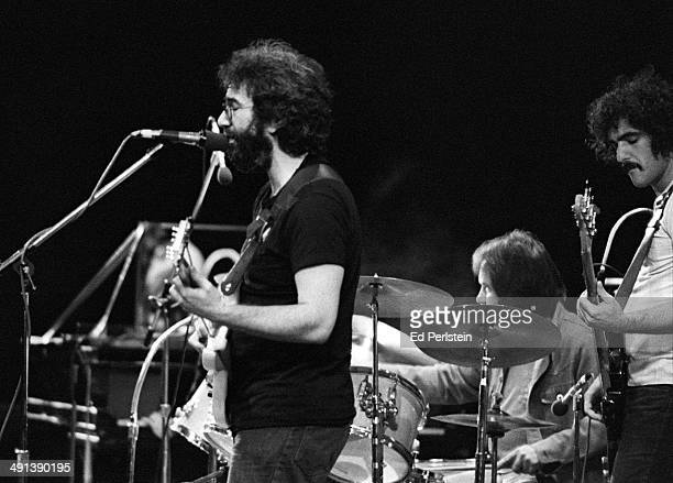 Jerry Garcia performs with the Jerry Garcia Band at Concord Pavilion in October 1975 in Concord, California.