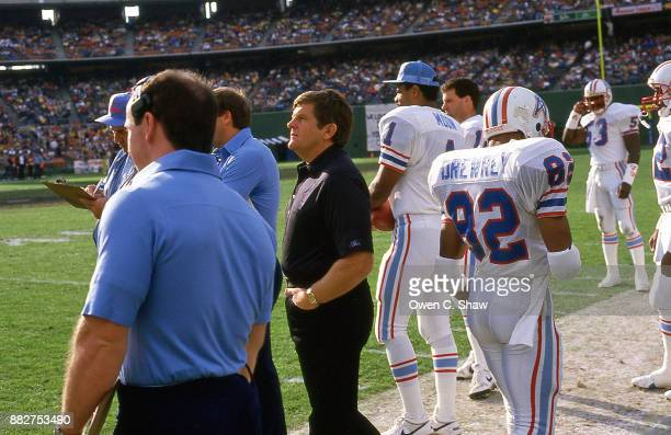 Jerry Glanville head coach of the Houston Oilers against the Los Angeles Rams at Anaheim Stadium circa 1984 in AnaheimCalifornia on December 9th 1984