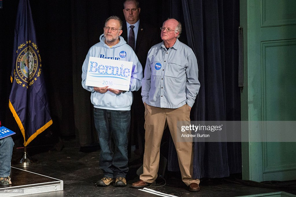 Front Runner Bernie Sanders Campaigns Across NH Ahead Of Primary : News Photo