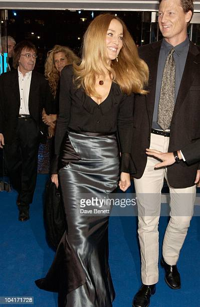 Jerry Hall And Benedict Allen 'Master And Commander The Far Side Of The World' Royal Premiere At The Odeon Leicester Square London