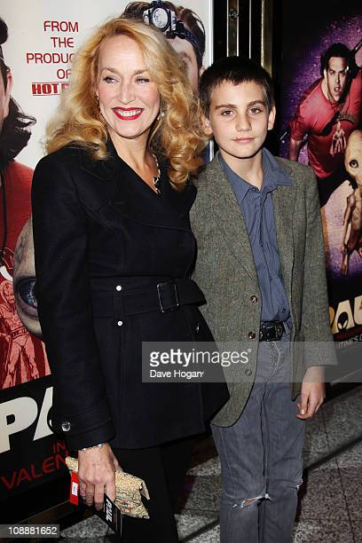 Jerry Hall and Gabriel Jagger attend the World premiere of Paul held at the Empire Leicester Square on February 7 2011 in London England