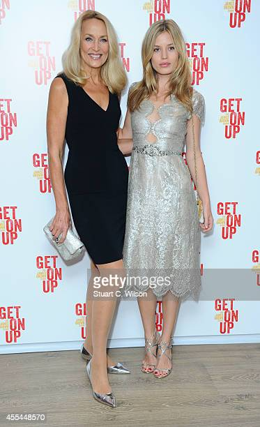 Jerry Hall and Georgia May Jagger attend a special screening of 'Get On Up' on September 14 2014 in London England