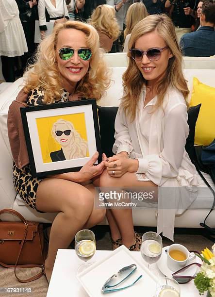 Jerry Hall and Georgia May Jagger attend Sunglass Hut's Mother's Day celebration with Georgia May Jagger Jerry Hall at the 5th Avenue Flagship Store...