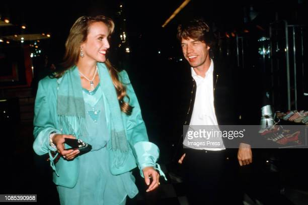 Jerry Hall and Mick Jagger circa 1988 in New York City.