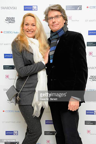 Jerry Hall and Warwick Hemsley attends the pre party for the English National Ballet's Christmas performance of The Nutcracker on December 14 2011 in...