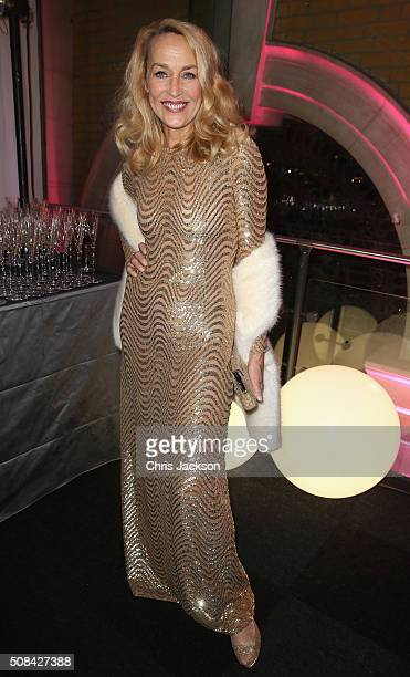 Jerry Hall attends a predinner reception for the Prince's Trust Invest in Futures Gala Dinner at The Old Billingsgate on February 4 2016 in London...