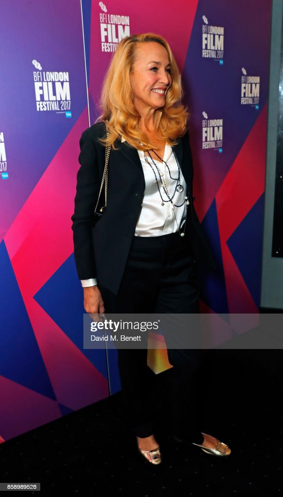 Jerry Hall attends a screening 'My Generation' at the Curzon Chelsea during the 61st BFI London Film Festival on October 8, 2017 in London, England.