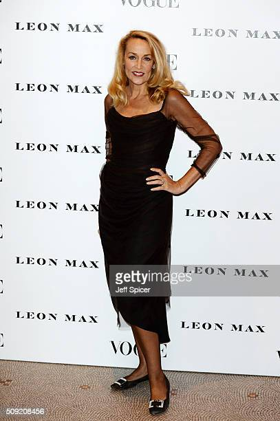 Jerry Hall attends at Vogue 100 A Century Of Style at the National Portrait Gallery on February 9 2016 in London England