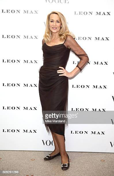 Jerry Hall attends at Vogue 100 A Century Of Style atNational Portrait Gallery on February 9 2016 in London England