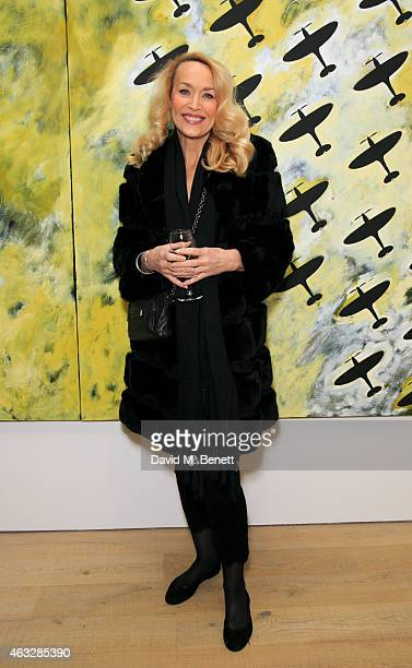 Jerry Hall attends Pace London Presents Brian Clarke on February 12 2015 in London England
