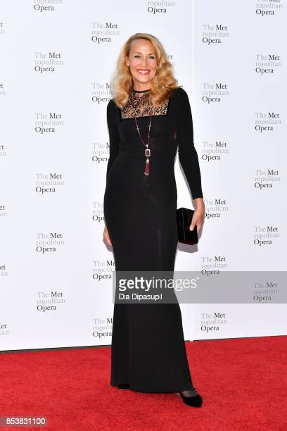 Jerry Hall attends the 2017 Metropolitan Opera Opening Night at The Metropolitan Opera House on September 25 2017 in New York City