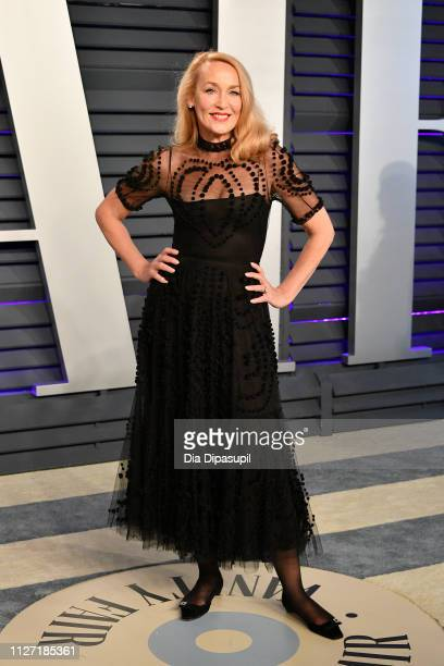 Jerry Hall attends the 2019 Vanity Fair Oscar Party hosted by Radhika Jones at Wallis Annenberg Center for the Performing Arts on February 24 2019 in...