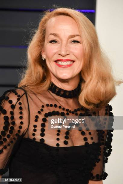 Jerry Hall attends the 2019 Vanity Fair Oscar Party hosted by Radhika Jones at Wallis Annenberg Center for the Performing Arts on February 24, 2019...