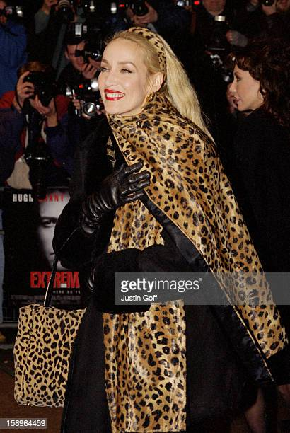 Jerry Hall Attends The 'Extreme Measure' Premiere In London