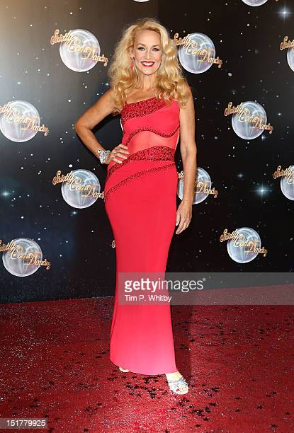 Jerry Hall attends the launch of Strictly Come Dancing 2012 at BBC Television Centre on September 11 2012 in London England