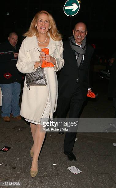 Jerry Hall attends the NME Awards on February 26 2014 in London England