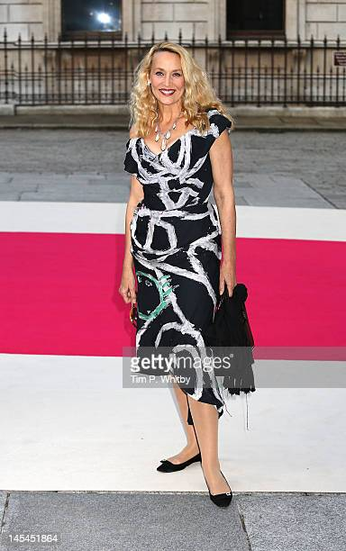 Jerry Hall attends the private VIP view of Royal Academy Summer Exhibition 2012 at Royal Academy of Arts on May 30 2012 in London England