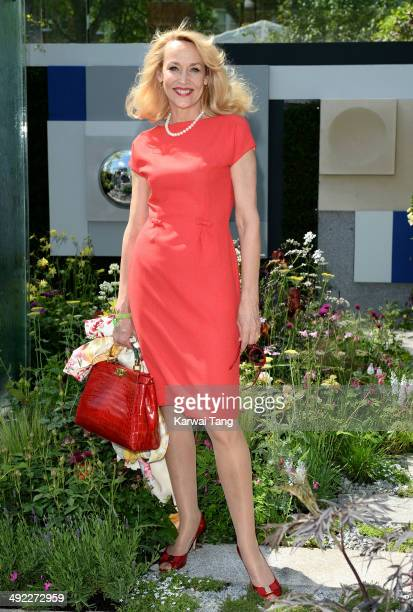 Jerry Hall attends the VIP preview day of The Chelsea Flower Show held at the Royal Hospital Chelsea on May 19 2014 in London England