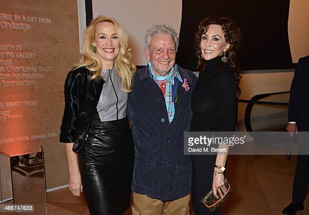 Jerry Hall David Bailey and Marie Helvin attend a private view of Bailey's Stardust a exhibition of images by David Bailey supported by Hugo Boss at...