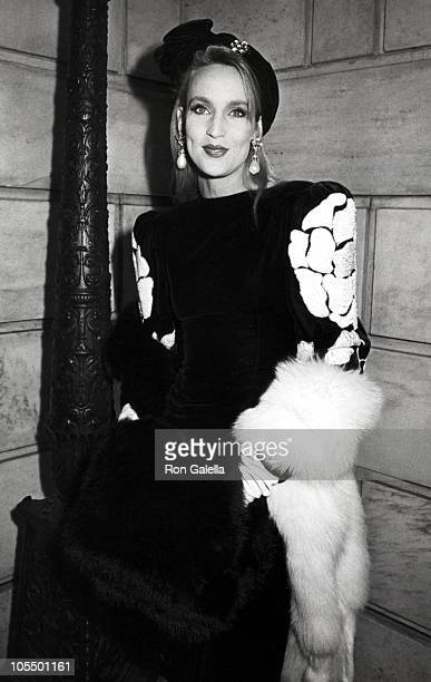 Jerry Hall during 1985 Annual Council of Fashion Designers of America Awards Dinner at Metropolitan Museum of Art in New York City, New York, United...
