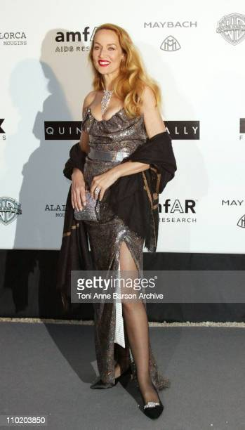 """Jerry Hall during amfAR's """"Cinema Against AIDS Cannes"""" Benefit Sponsored by Miramax and Quintessentially - Arrivals at Moulin De Mougins in Cannes,..."""