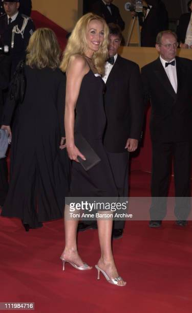 Jerry Hall during Cannes 2002 'Star Wars Episode II Attack of the Clones' Premiere at Palais des Festivals in Cannes France