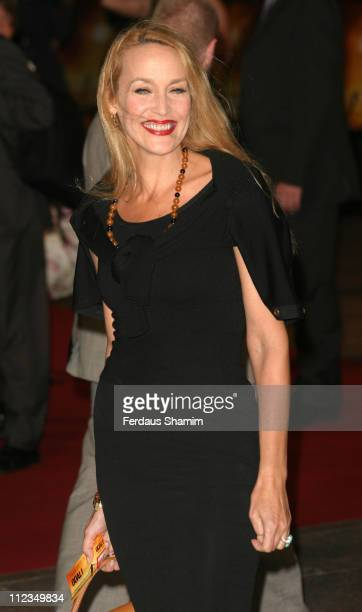 """Jerry Hall during """"Goal!"""" London Premiere - Arrivals at Odeon Leicester Square in London, Great Britain."""