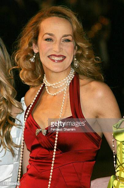 Jerry Hall during 'King Kong' London Premiere Outside Arrivals at Odeon Leicester Square in London Great Britain