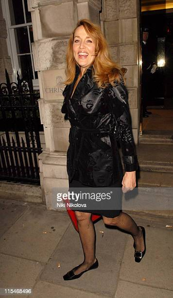 Jerry Hall during Lighthouse Gala Auction March 12 2007 at Christie's in London Great Britain