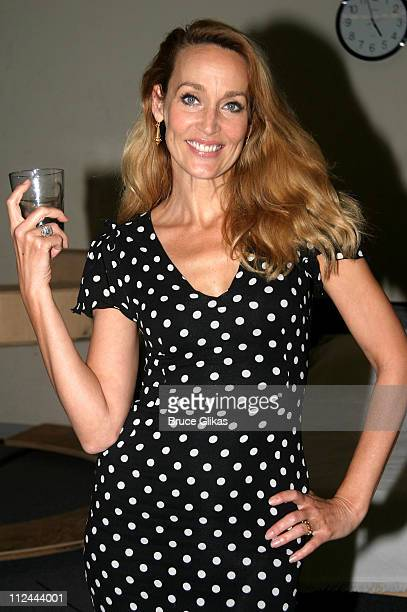 Jerry Hall during Rehearsasl for the Touring Company of 'The Graduate' Starring Jerry Hall at 890 Broadway Rehearsal Studios in New York City New...