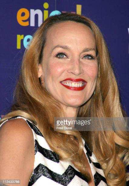 Jerry Hall during Whitbread Book of the Year Awards 2004 at The Brewery in London Great Britain
