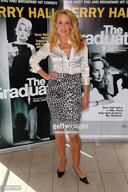 Jerry Hall poses at a media call for The Graduate at Crown Metropol on March 12 2013 in Melbourne Australia