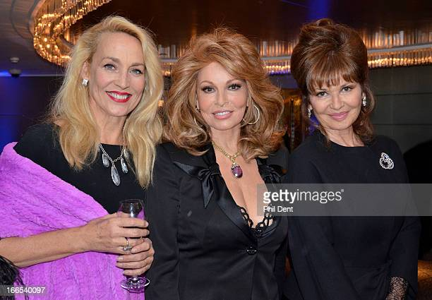 Jerry Hall Raquel Welch and Stephanie Beacham attend a private party London 25 June 2012