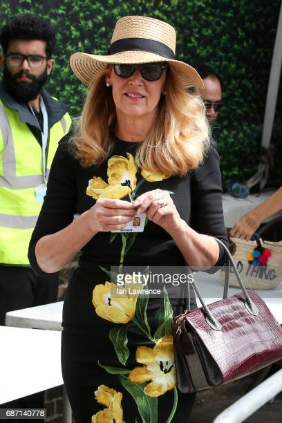 Jerry Hall seen at the Chelsea Flower Show VIP day on May 22 2017 in London England
