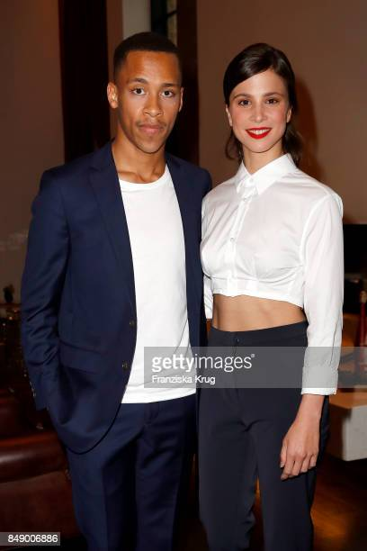 Jerry Hoffmann and Aylin Tezel attend the First Steps Award 2017 at Hotel Zoo on September 18 2016 in Berlin Germany